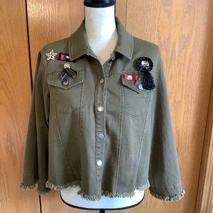Anthropologie Guest Editor Military Jacket Sz-S